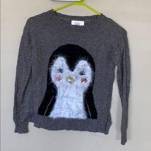 Justice cute penguin sweater
